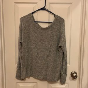 Sweater with bow back